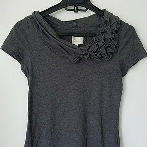 Anthropologie - Deletta tshirt with ruffle detail